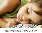 close up portrait of sleeping... | Shutterstock . vector #59291539