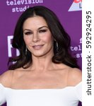 "Small photo of LOS ANGELES - MAR 01: Catherine Zeta-Jones arrives for the ""Feud: Bette and Joan"" Hollywood Premiere on March 1, 2017 in Hollywood, CA"