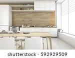 3d rendering white scandinavian ... | Shutterstock . vector #592929509