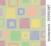 seamless raster geometrical... | Shutterstock . vector #592931387