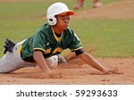 Small photo of BANGOR, MAINE - AUGUST 17: Ray-Patrick Didder of Latin America slides into third base versus U.S. Central at the 2010 Senior League Baseball World Series on August 17, 2010 in Bangor, Maine.