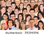 collage of a group of people... | Shutterstock . vector #59294596