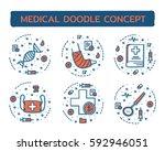 doodle web banners vector...   Shutterstock .eps vector #592946051