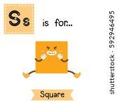 letter s cute children colorful ... | Shutterstock .eps vector #592946495