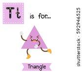letter t cute children colorful ... | Shutterstock .eps vector #592946525