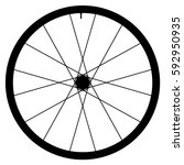 bike wheel   vector... | Shutterstock .eps vector #592950935
