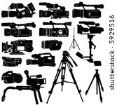 camera and tripod vector | Shutterstock .eps vector #5929516