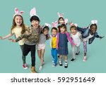 happiness group of cute and...   Shutterstock . vector #592951649