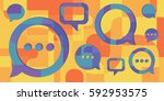 vector illustration of  three... | Shutterstock .eps vector #592953575