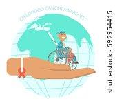 international childhood cancer... | Shutterstock . vector #592954415