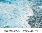 wave sea background in okinawa  ... | Shutterstock . vector #592960874