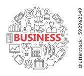 icons for business  management  ... | Shutterstock .eps vector #592962149
