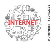 universal internet icon to use...   Shutterstock .eps vector #592962191