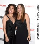 "Small photo of LOS ANGELES - MAR 2: Sandra Oh, Alicia Silverstone at the ""Catfight"" Los Angeles Premiere at the Cinefamily Theater on March 2, 2017 in Los Angeles, CA"