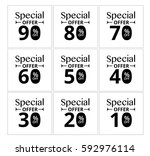 special offer label tag. vector ...   Shutterstock .eps vector #592976114