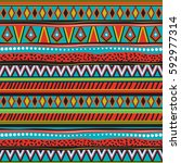 geometric elements for fabric ... | Shutterstock .eps vector #592977314