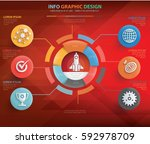 business startup info graphics... | Shutterstock .eps vector #592978709