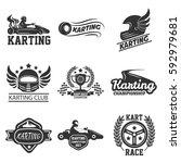 karting or kart races club or... | Shutterstock .eps vector #592979681