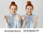 people  emotions and feelings.... | Shutterstock . vector #592984079