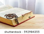 Catholic Rosary Beads And Bible