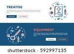 doodle web banners vector... | Shutterstock .eps vector #592997135