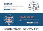 doodle web banners vector... | Shutterstock .eps vector #592997144