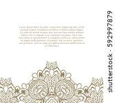 vintage frame. decorative... | Shutterstock .eps vector #592997879