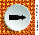 arrow indicates the direction ... | Shutterstock .eps vector #592998311