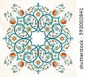 vector element  arabesque for... | Shutterstock .eps vector #593002841