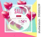 sale discount 8 march happy... | Shutterstock .eps vector #593003159