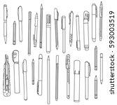 Art Materials  Line Drawing Se...