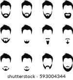 set of men hairstyles  beards...   Shutterstock . vector #593004344