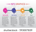 business infographics. timeline ... | Shutterstock .eps vector #593007839