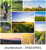 Beaujolais Rectangular Travel Photo Collage - Fine Art prints