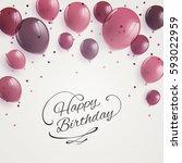 vector illustration of a happy... | Shutterstock .eps vector #593022959