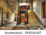 Old Vintage Lift At Abandoned...