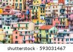 ligurian houses   Shutterstock . vector #593031467