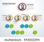 minimalist company organization ... | Shutterstock .eps vector #593032394