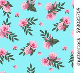 vintage seamless pattern with... | Shutterstock .eps vector #593035709