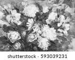 painting still life oil...   Shutterstock . vector #593039231