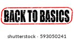 back to basics red stamp on... | Shutterstock . vector #593050241