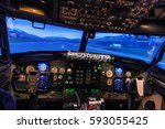 looking into the cabin of a... | Shutterstock . vector #593055425