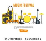 musical instruments and music... | Shutterstock . vector #593055851