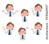 illustration of various facial...   Shutterstock .eps vector #593060957