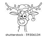 reindeer | Shutterstock .eps vector #59306134
