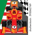 formula 1 race car | Shutterstock .eps vector #593062769