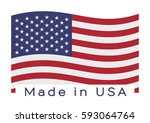 made in usa. barcode. | Shutterstock .eps vector #593064764