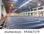 zinc electrowinning workshop...   Shutterstock . vector #593067179