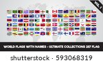 world flags with name. ultimate ... | Shutterstock .eps vector #593068319