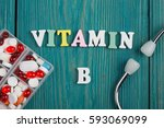 """text """"vitamin b"""" of colored... 